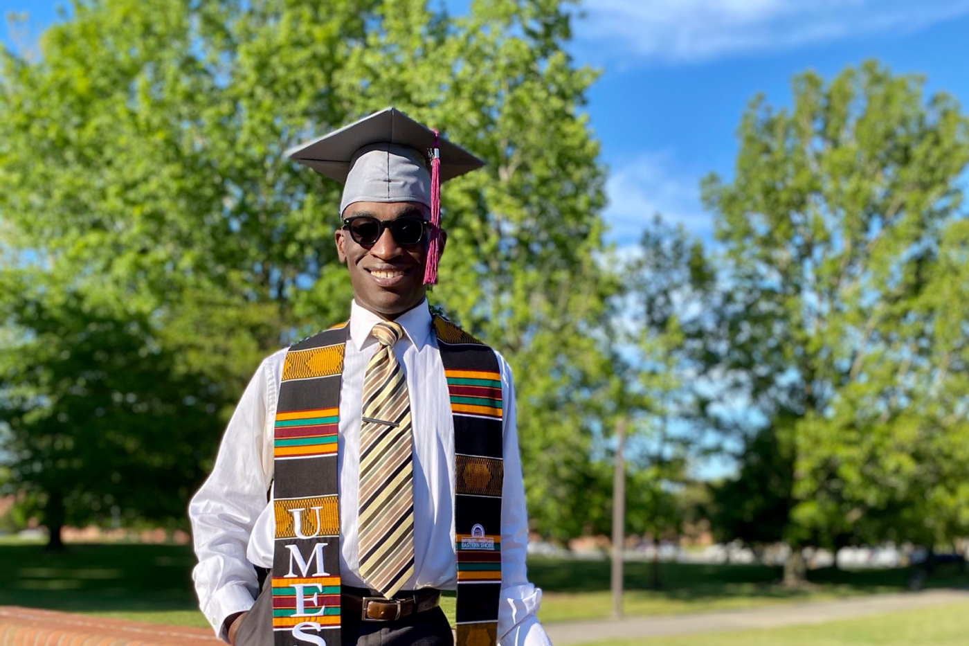 Langston Frazier has already put his PGA education to use as an assistant golf professional at the University of Maryland Golf Course, the same school where he's pursuing a graduate degree in broadcast journalism.