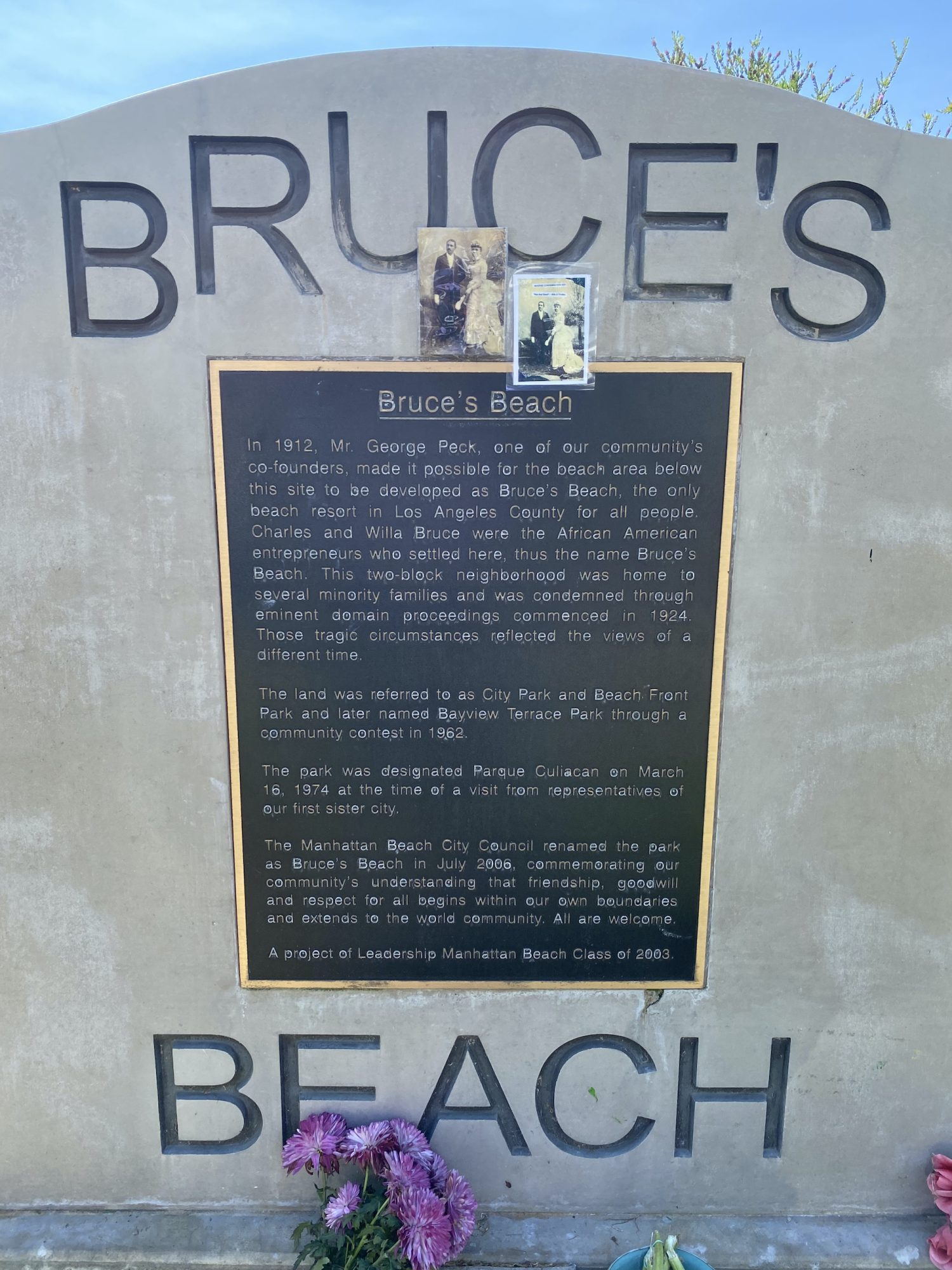 Bruce's Beach was once a thriving Black-owned beachfront property in Manhattan Beach, CA. (Brandon I. Brooks/L.A. Sentinel)