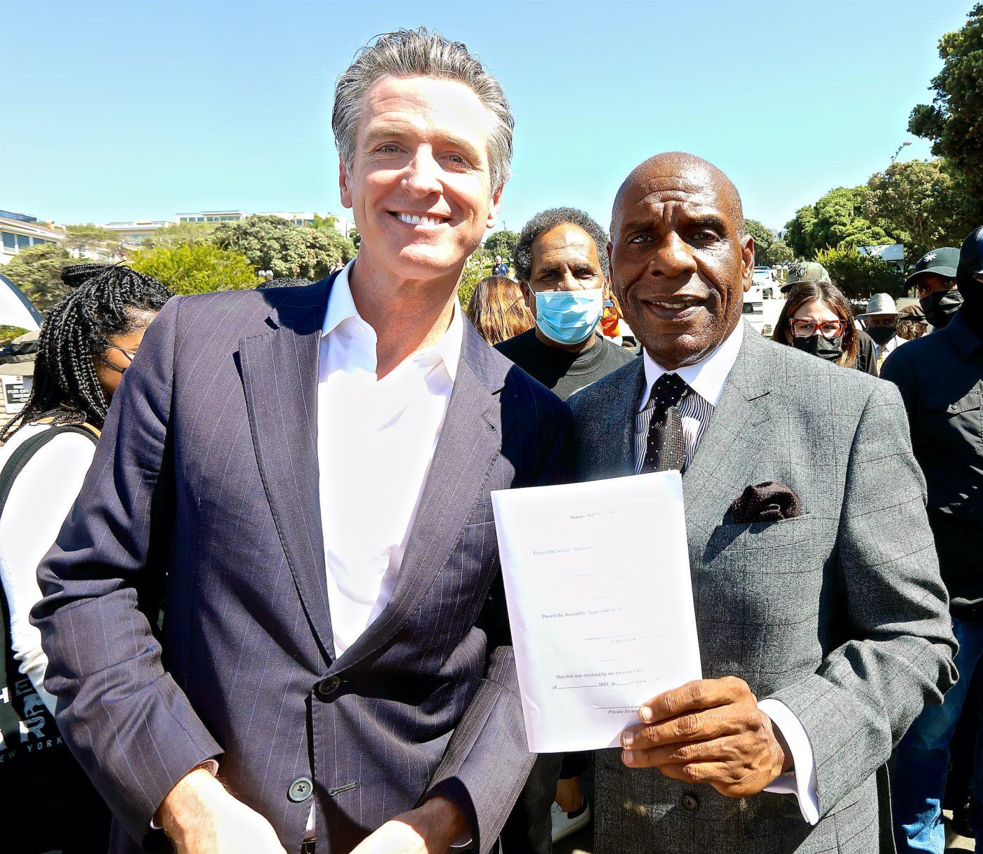 (L) California Governor and Calif. State Senator Steven Bradford (E. Mesiyah McGinnis/L.A. Sentinel)