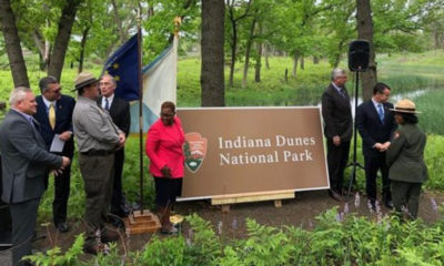 Mayor Karen Freeman-wilson, Congressman Peter Visclosky And Local And State Leaders Prepare To Dedicate The Indiana Dunes As A U.S. National Park.